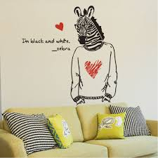 compare prices on zebra stickers wall online shopping buy low english letter mr zebra heart shape wall sticker home decal art poster mural kid baby