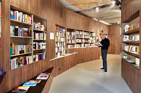 innovative custom bookshelves bookstore interior retail
