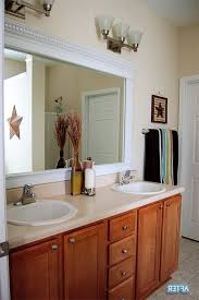 framing bathroom mirror with molding best cheriesparetime frame a mirror with clips of framing bathroom