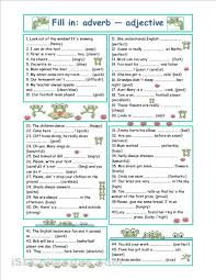 adverbs and adjectives worksheet worksheets