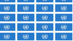 Picture Of Un Flag Sheet Of Postcards With International Flag Of Un Symbol Of United