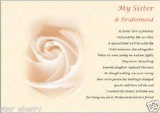 matron of honor poem bridesmaid poem home furniture diy ebay