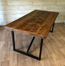 Distressed Dining Room Tables Dining Tables Reclaimed Wood And Metal Dining Table Barn Wood