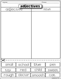 adjectives and nouns worksheet sorting adjectives adjectives describe a noun in many different