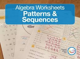 algebra patterns and sequences worksheets by littlestreams