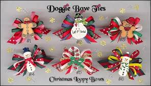 loopy bow doggie bow ties christmas loopy size dog bows