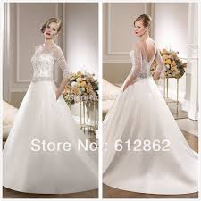 aliexpress com buy 2017 new arrival low back ball gown sweep