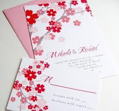 Cherry Blossom Wedding Invitations Asian Cherry Blossoms Wedding Invitations Sakura Cherry Blossom