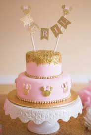 minnie mouse cakes minnie mouse cake topper pink and gold party birthday