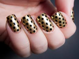easy nail art bow and polka dot design on short nails diy classy