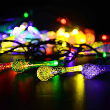 Novelty String Lights by Amazon Com Solar Outdoor String Lights Goodia 15 7ft 20 Led