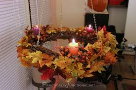 Grapevine Chandelier Simple Hanging Fall Wreath Chandelier Tutorial Practically