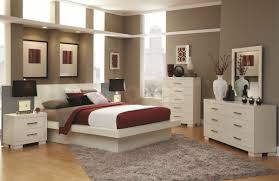 Bedroom Interior Color Ideas by Grey Bedroom Wall With Picture Frame Combined By White Blue