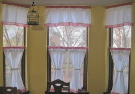kitchen furniture contemporary bay window kitchen curtains