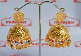 lotan earrings big jhumka earrings 24 ct gold plated traditional punjabi jhumki