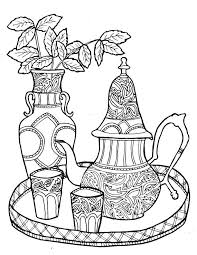 436 coffee tea coloring pages adults images