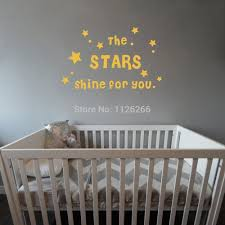 compare prices on kids wall quotes online shopping buy low price the stars shine for you diy kids quote vinyl wall sticker decor decals for baby room