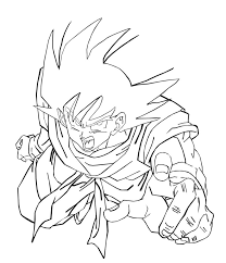 coloring pages of goku in dragon ball z photos colouring