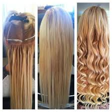 microbead extensions micro bead hair extensions tiara hairdressing beauty salon