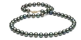fashion black pearl necklace images Black freshwater pearl necklace 7 5 8 0mm jpg