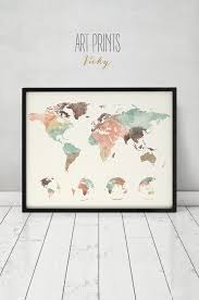 Large World Map Poster by 97 Best Watercolor Maps Images On Pinterest Maps Posters