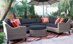 Patio Furniture Sectional Seating - oahu outdoor sectional sofa with ottoman the dump america u0027s