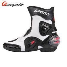 motorcycle boots and shoes riding tribe windproof leather middle cylinder motorcycle boots