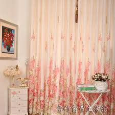 Peach Floral Curtains 2013 Beautiful Floral Printed Polyester Curtains For Living Room