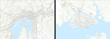 Singapore On Map Cartonerd Web Mercator And Comparisons