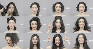 100 years hairstyle images 100 years of changing beauty makeup and hairstyles in 1 minute