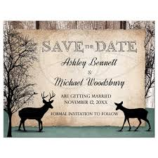 save the date cards cheap the date cards deer rustic woodsy