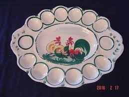 vintage deviled egg plates vintage deviled egg platter made in italy painted egg