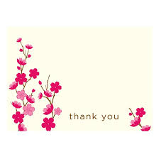 thank you cards with cherry blossom design 50 count target
