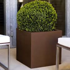 cubo square outdoor garden planter homeinfatuation com