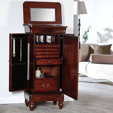 A Key To The Armoire Belham Living Seville Antique Walnut Locking Jewelry Armoire
