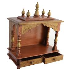 Decoration Of Temple In Home Buy Home Temple Mandap Wooden Temple Pooja Temple With Led