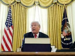 gold curtains in the oval office donald trump s oval office design is inspired by past presidents