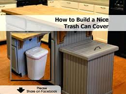 trash can hideaway garbage bin cover taupe outdoor home garden