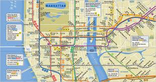 map of new york ny subway map new york ny travel maps and major tourist attractions
