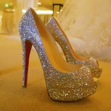 wedding shoes las vegas silver altitude heels diamonds glam shoes munich