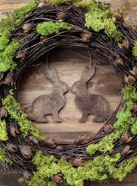 Easter And Spring Decorations rustic easter wreath 16