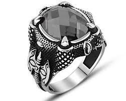 mens stone rings images Axe design zircon stone 925 sterling silver men 39 s ring zenn stone jpg