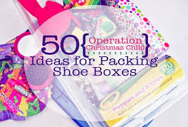 50 ideas for packing shoeboxes for operation christmas child