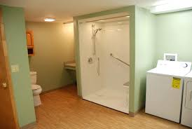 full size of stall shower near twin laundry machines in basement