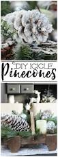 diy icicle pinecones pinecone holidays and craft