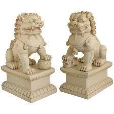 amazon com asian foo dogs fu dogs garden statues pair stone