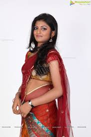 beautiful indian red half saree indian girls photo shared by
