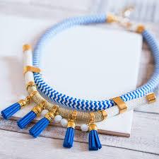 handmade statement necklace images Handmade tassel statement necklace by iris jpg