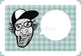 Mad Meme Face - greeting card with mad hipster face stock vector illustration of