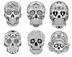 sugar skull svg sugar skull dxf sugar skull iron on sugar